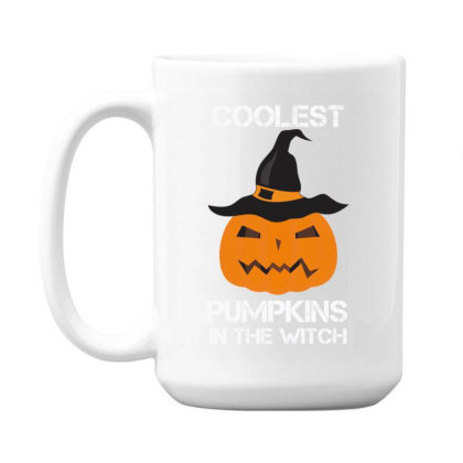 Coolest Pumpkin In The Witch Halloween 15 Oz Coffe Mug Designed By Amber Petty