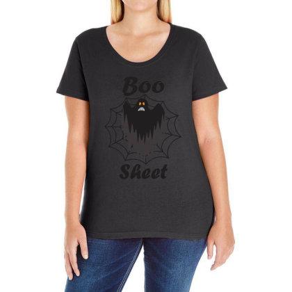 Boo Sheet Ladies Curvy T-shirt Designed By Amber Petty