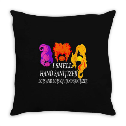 I Smell Hand Sanitizer Lots Throw Pillow Designed By Kakashop
