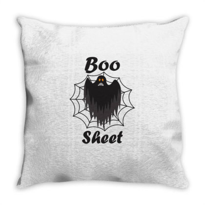 Boo Sheet Throw Pillow Designed By Amber Petty