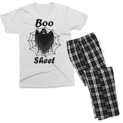 Boo Sheet Men's T-shirt Pajama Set Designed By Amber Petty