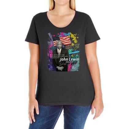 John Lewis Black Ladies Curvy T-shirt Designed By Kakashop