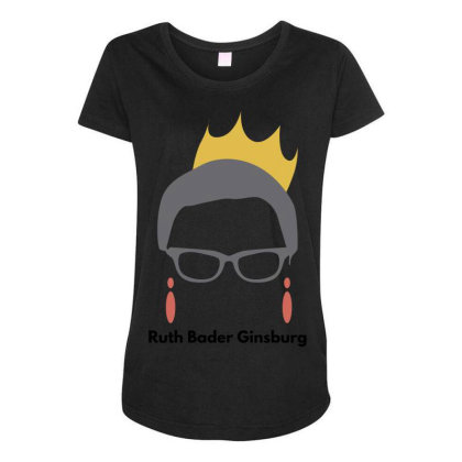 Ruth Bader Ginsburg Maternity Scoop Neck T-shirt Designed By Fahmifutri