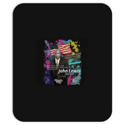John Lewis Black Mousepad Designed By Kakashop