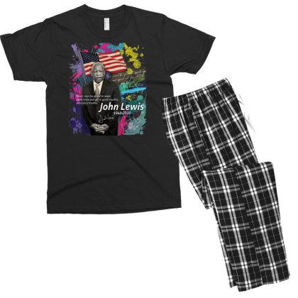 John Lewis Black Men's T-shirt Pajama Set Designed By Kakashop