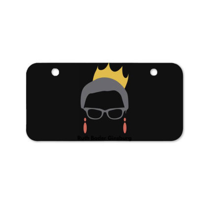 Ruth Bader Ginsburg Bicycle License Plate Designed By Fahmifutri