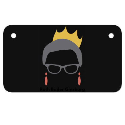 Ruth Bader Ginsburg Motorcycle License Plate Designed By Fahmifutri