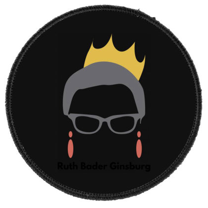 Ruth Bader Ginsburg Round Patch Designed By Fahmifutri