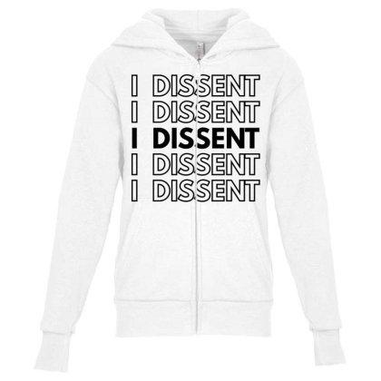 I Dissent Youth Zipper Hoodie Designed By Fahmifutri