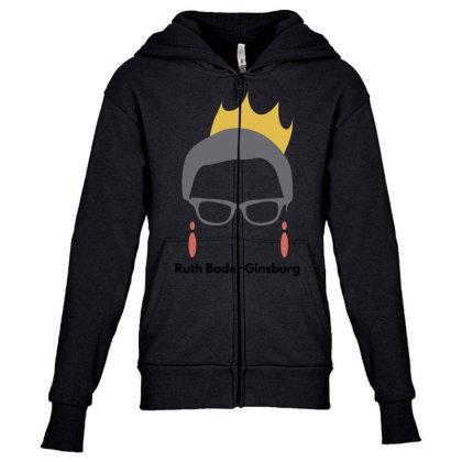 Ruth Bader Ginsburg Youth Zipper Hoodie Designed By Fahmifutri
