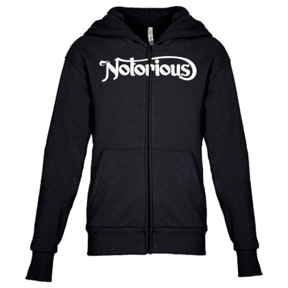 Notorious Youth Zipper Hoodie Designed By Fahmifutri
