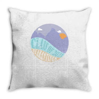 Class Of 2021 Quarantined Throw Pillow Designed By Akin