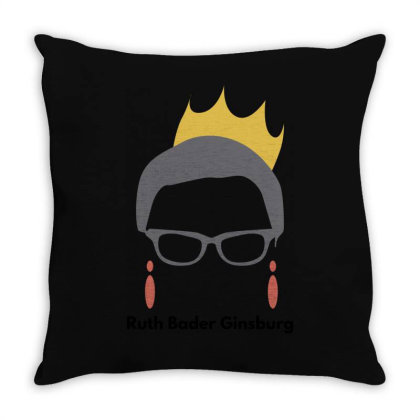 Ruth Bader Ginsburg Throw Pillow Designed By Fahmifutri