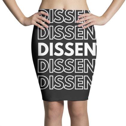 I Dissent White Pencil Skirts Designed By Fahmifutri