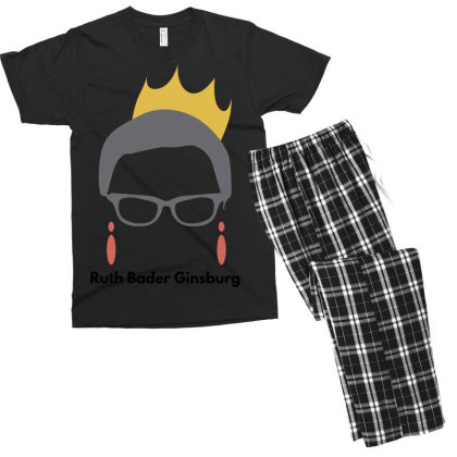 Ruth Bader Ginsburg Men's T-shirt Pajama Set Designed By Fahmifutri