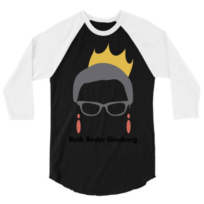 Ruth Bader Ginsburg 3/4 Sleeve Shirt Designed By Fahmifutri