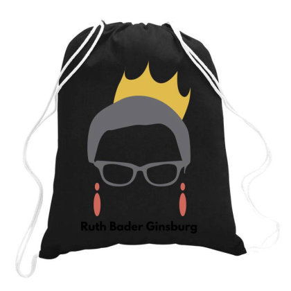 Ruth Bader Ginsburg Drawstring Bags Designed By Fahmifutri