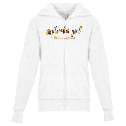 September Girl Quarantined For Light Youth Zipper Hoodie Designed By Akin