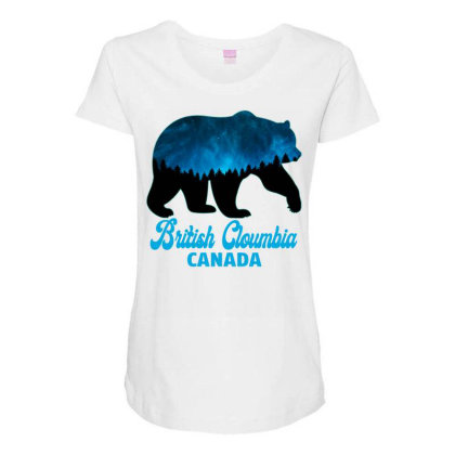 British Cloumbia Canada Maternity Scoop Neck T-shirt Designed By Bettercallsaul