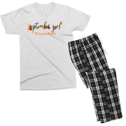 September Girl Quarantined For Light Men's T-shirt Pajama Set Designed By Akin