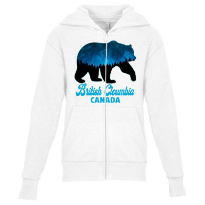 British Cloumbia Canada Youth Zipper Hoodie Designed By Bettercallsaul
