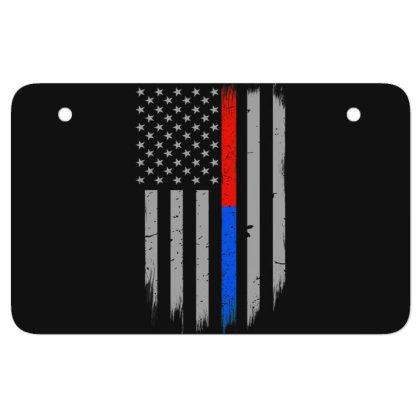 Trump Thin Red Blue Line Atv License Plate Designed By Kakashop