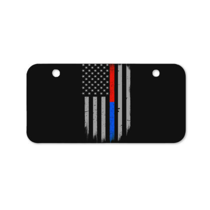 Trump Thin Red Blue Line Bicycle License Plate Designed By Kakashop