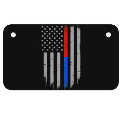 Trump Thin Red Blue Line Motorcycle License Plate Designed By Kakashop