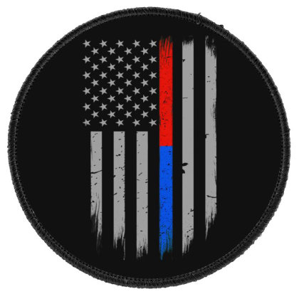 Trump Thin Red Blue Line Round Patch Designed By Kakashop