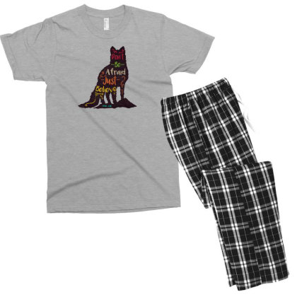 Don't Be Afraid Just Believe Men's T-shirt Pajama Set Designed By Chiks