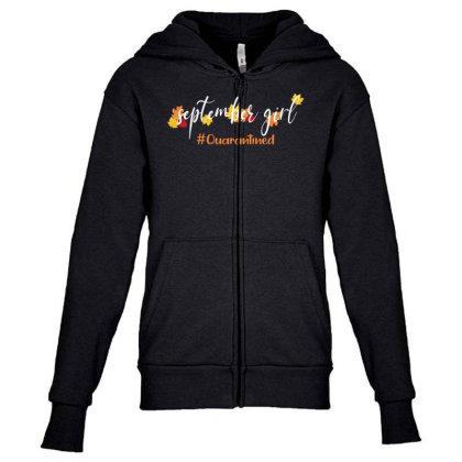 September Girl Quarantined For Dark Youth Zipper Hoodie Designed By Akin