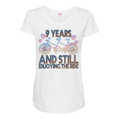 9 Years And Still Enjoying The Ride Maternity Scoop Neck T-shirt Designed By Bettercallsaul