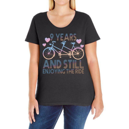 9 Years And Still Enjoying The Ride Ladies Curvy T-shirt Designed By Bettercallsaul