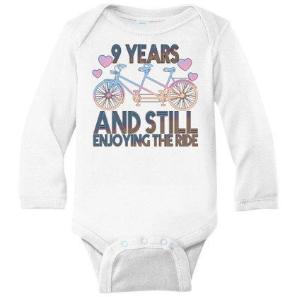 9 Years And Still Enjoying The Ride Long Sleeve Baby Bodysuit Designed By Bettercallsaul