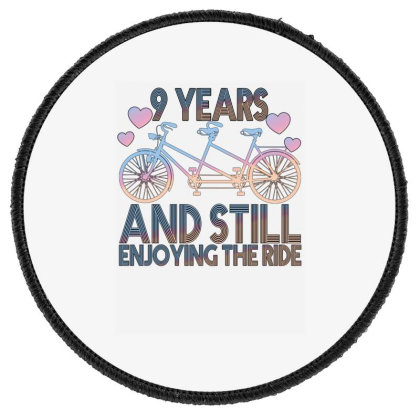 9 Years And Still Enjoying The Ride Round Patch Designed By Bettercallsaul