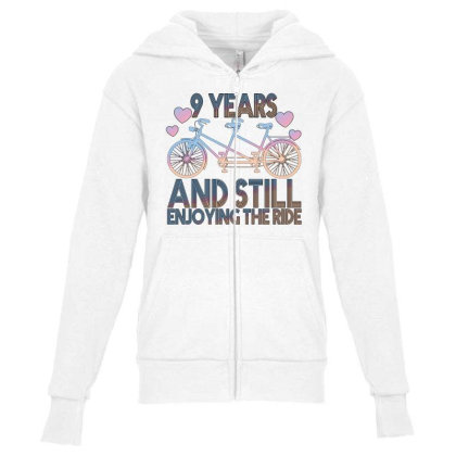 9 Years And Still Enjoying The Ride Youth Zipper Hoodie Designed By Bettercallsaul