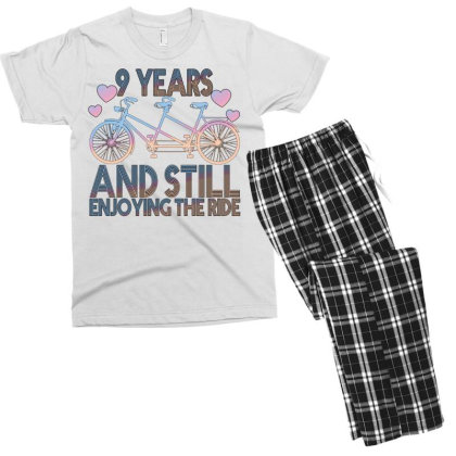 9 Years And Still Enjoying The Ride Men's T-shirt Pajama Set Designed By Bettercallsaul