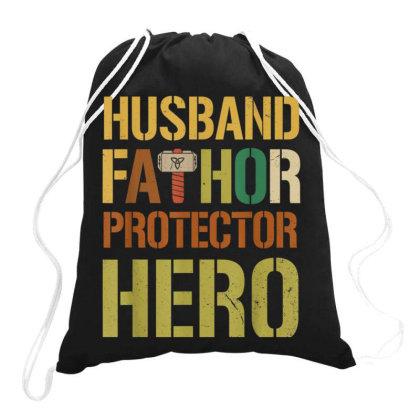 Husband Fathor Protector Hero Drawstring Bags Designed By Kakashop