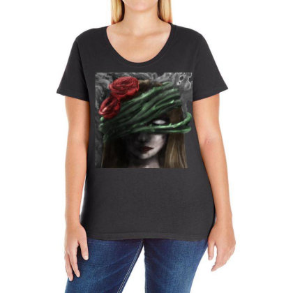 Ego Ladies Curvy T-shirt Designed By Knife.vs.face
