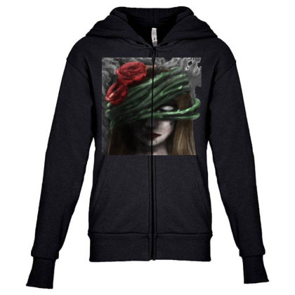 Ego Youth Zipper Hoodie Designed By Knife.vs.face