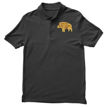 Give Even If You Have A Little Men's Polo Shirt Designed By Chiks