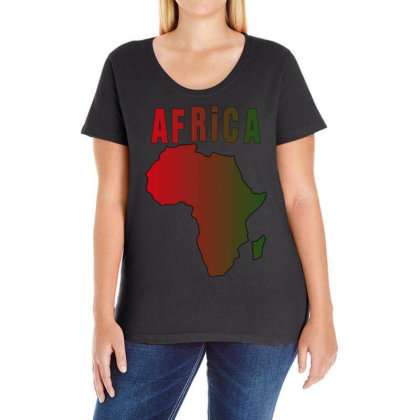 Africa Ladies Curvy T-shirt Designed By Bettercallsaul