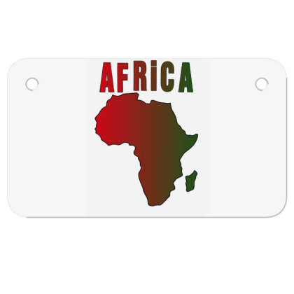 Africa Motorcycle License Plate Designed By Bettercallsaul