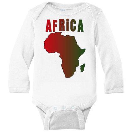 Africa Long Sleeve Baby Bodysuit Designed By Bettercallsaul