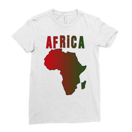 Africa Ladies Fitted T-shirt Designed By Bettercallsaul