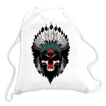 Indian Skull Drawstring Bags Designed By Estore