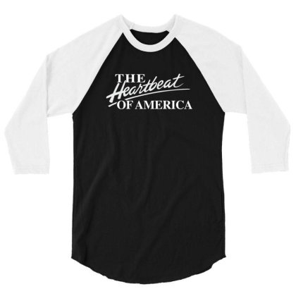 The Heartbeat Of America 3/4 Sleeve Shirt Designed By Estore