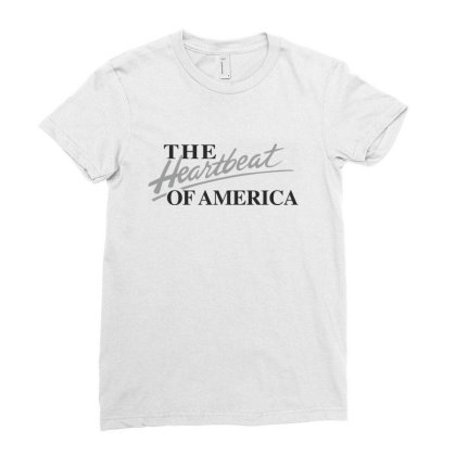 The Heartbeat Of America Ladies Fitted T-shirt Designed By Estore