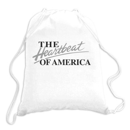 The Heartbeat Of America Drawstring Bags Designed By Estore