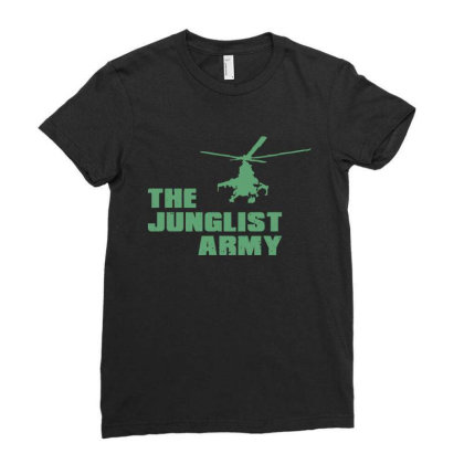 The Junglist Army Ladies Fitted T-shirt Designed By Estore